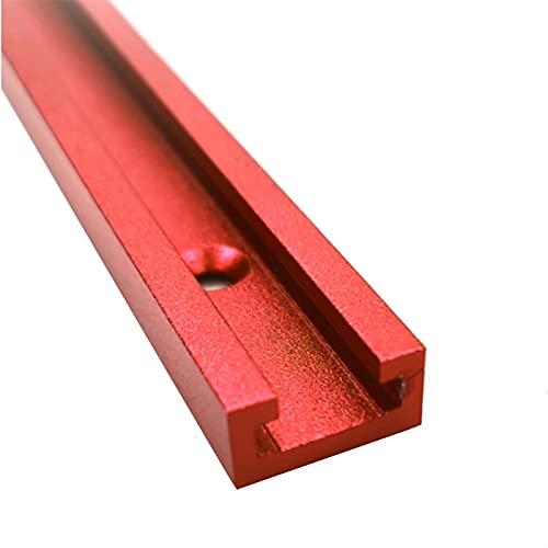 LUYIPINGQIWND T Schrauben-Befestigungsschlitz Aluminium-Holzbearbeitungs-T-Slot-Guttel-Titel Jig-Gleis-Haltestelle für Router-Tabelle Bandsägen DIY-Werkzeuge 300-800mm