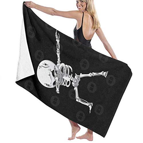 AGSIGGS Leichtes Badetuch-Set mit Skelettdruck, Waschlappen fürs Badezimmer, sehr saugfähig, extra großes Badetuch, Strand, Reisen, Badewanne, schnelltrocknend, Pool Gym Handtücher Set