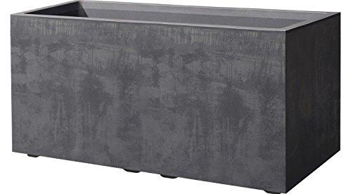 Deroma Cassetta Millenium anthrazit 78,5x39x39cm Pflanzkasten mit Wasserspeicher Leichter und Stabiler Kunststoff UV beständig, frostresistent, recyclebar