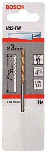 Bosch Professional Metallbohrer HSS-TiN (Ø 3 mm)