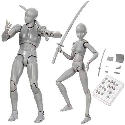 iGREATWALL Drawing Mannequin Body Kun Model Painting Figuarts Action Figures with Various Gestures,Model Stands,Funny Accessories Kit