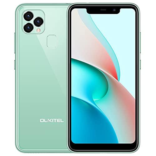 OUKITEL C22 Unlocked Smartphones, 4G Android 10 Unlocked Cell Phone, Dual Sim Unlocked Phone with 4000mAh Battery, 5.86 Inches 4GB 128GB 13MP Triple Rear Camera Face/Fingerprint ID Unlock (Green)