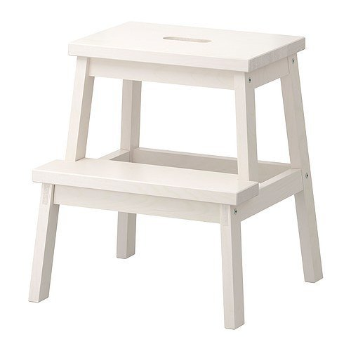 IKEA BEKVAM Home Indoor Solidwood Step Stool (White)