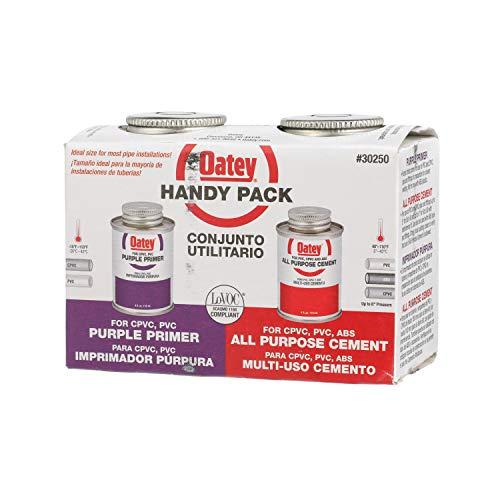 Oatey 30250 4 OZ All Purpose 4OZ AP Cement Weld Kit, Clear