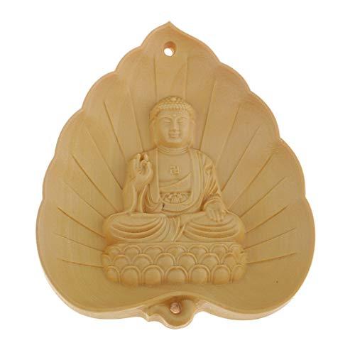 P Prettyia Holz Buddha Form Anhänger Unisex Mode schmuck herstellung zubehör Anhänger