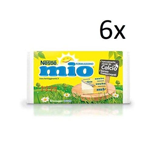 Nestlé 6x Formaggino mio crema di formaggio italiano originale per bambini 125g senza conservanti. Ricco di calcio.