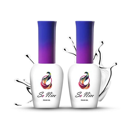 So Nice - UV LED Top coat Silky Matt + base gel Super Hero, set 8 ml +8 ml, confezione da 2