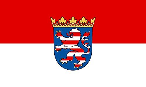 Unbekannt magFlags Tisch-Fahne/Tisch-Flagge: Hessen 15x25cm inkl. Tisch-Ständer