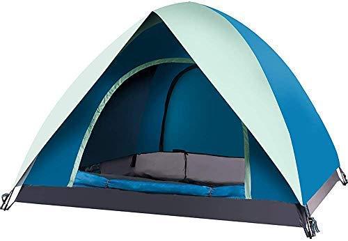 Fee-ZC Tent, super dubbellaags, grote automatische 3-4 personen, camping, volledig buiten, waterdicht, draagbaar, luifel schaduw voor wandelen, bergbeklimmen
