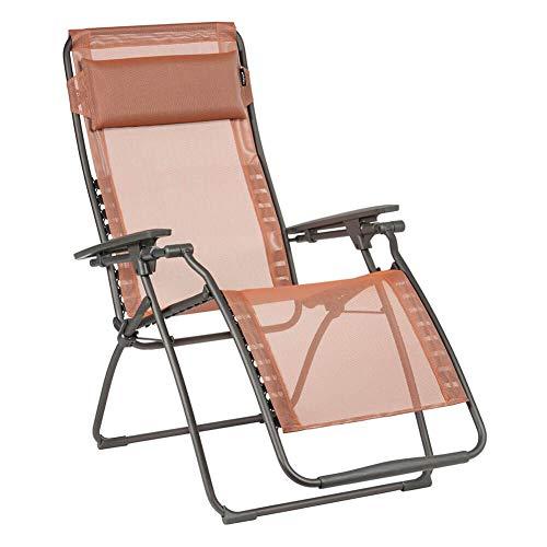 Lafuma Mobilier Futura Fauteuil Relax Batyline Terracotta 2019 Chaise de Camping