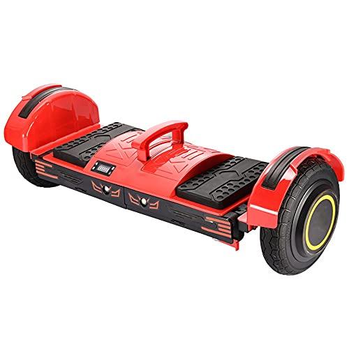 Scooter Galvánico De Auto-balanceo De Hoverboard, Hoverboard LED Débil, Batería con Altavoz Bluetooth, Motor Sin Escobillas (Color : Red)