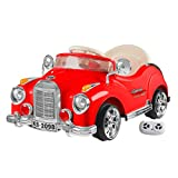 Unknown Kids Ride On Car with Remote Control – Classic Sports Car for Kids 6V Battery Powered Ride On Toys with Sound for Ages 3 – 6 by Lil' Rider (Red) (80-KB2098)