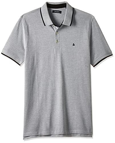 Jack & Jones Jjepaulos Polo SS Noos, Gris (Light Grey Melange Detail: Slim Fit-Melange), Medium para Hombre