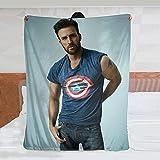 439 Throw Flannel Blanket for Captain Chris Evans Blanket for Bed Sofa Home Decor Gift for Men/Women 50in×40in