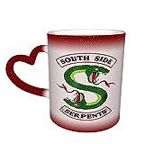 Tazas de café Riverdale South Side Serpents Taza cambiante de color sensible al calor en el cielo taza de cerámica s para los amantes de la familia amigos