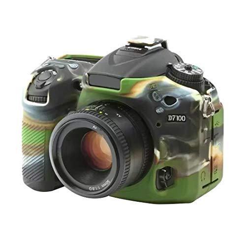 La Caja del Filtro de la cámara Suave de Silicona Protectora for Nikon D7200 / D7100 (Camuflaje) Movoo (Color : Camouflage)
