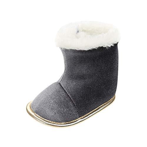 DWQuee ❤️ Kinder weiche Schuhe Plüsch Stiefel, Winter Baby Stiefel Säugling Neugeborene Mädchen Jungen Outdoor Schuhe Erste Wanderer Schuhe Booties (0~15 Monate)