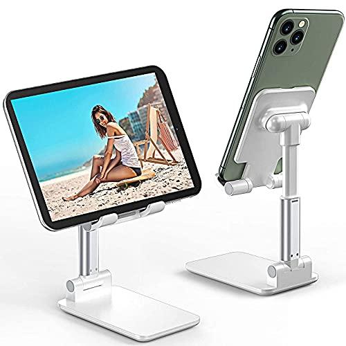 R&Lstore Supporto Porta Cellulare Telefono da Tavolo Compatto Pieghevole e Regolabile Universale per Smartphone, Tablet, iPad, iPhone, Samsung Galaxy, Huawei, Xiaomi