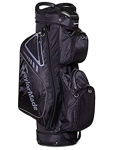 TaylorMade 2019 Golf Select Cart Bag, Black/Charcoal