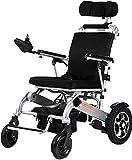 CHAIR Silla de ruedas, silla de rehabilitación médica para personas mayores, personas mayores, silla de ruedas eléctrica ligera y plegable, escritorio, brazos largos y reposapiés elevables, con poten
