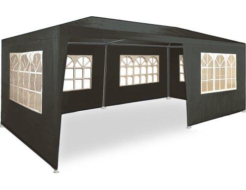 Kingsleeve Festzelt Rimini 3x6m UV-Schutz 18m² 6 Seitenteile Fenster wasserabweisend Pavillon Partyzelt Gartenzelt Festival Anthrazit