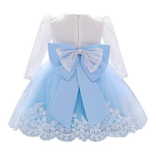 FYMNSI Vestido de niña para fiesta de cumpleaños o bautizo, con lazo...