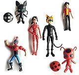 Yuirwe 14 unids/Set Miraculous Ladybug Cat Noir Juguetes Muñeca de Juguete Figuras de acción Juguete...