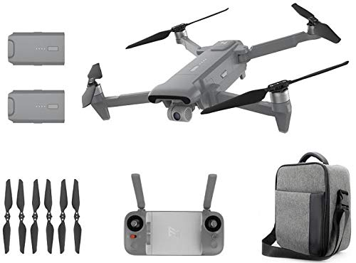 FIMI X8 SE 2020 Foldable Desgin Drone Kit 8km Range 4K Camera UHD 100Mbp HDR Video 70mins Flight Time FlyCam Quadcopter UAV GPS Tracking Smart Remote Controller, W Carry Bag & Dual Batteries (Gray)