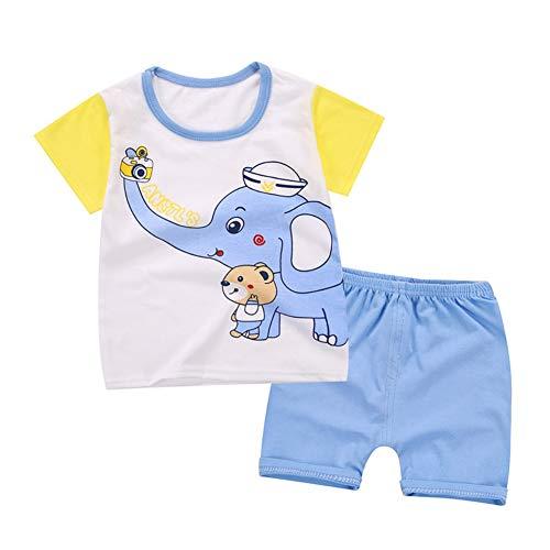 Minuya Conjuntos Bebés Niños Niñas, Verano Algodón de