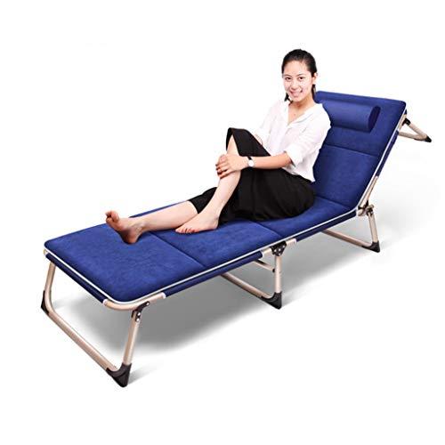 Lits de Camp et hamacs Camp Pliable Lit D'invité Se Pliant Chaise Se Pliante Lit Simple Respirable Lit De Bureau Sieste Lit De Plage Capacité Portante 300kg Mobilier de Camping