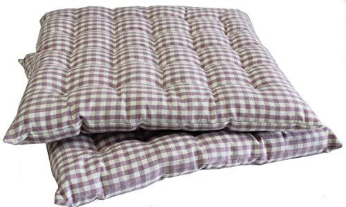 Scantex Stuhlkissen Campos Lilac-Slight 40 x 40 cm, 2 Stück, Hülle: 100% Baumwolle/Füllung 100% Polyester
