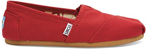 TOMS Womens Classic Slip-Ons Red 36-37 M EU / 6 B(M) US