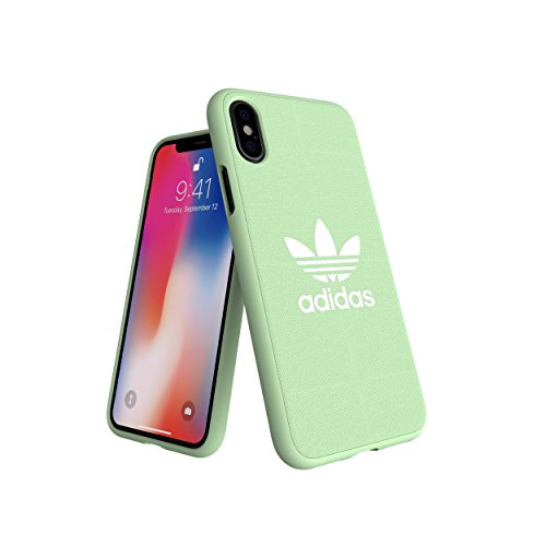 Adidas Originals Adicolor - Carcasa Moldeada para iPhone XS/X, Color Verde Menta
