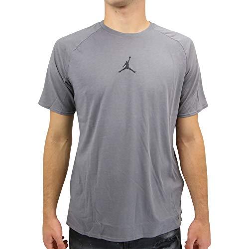 Nike Herren Jordan 23 Alpha Kurzarm-Trainingsoberteil Grau M