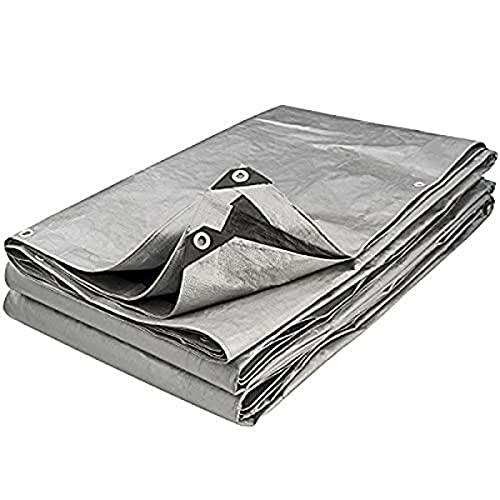 Provence Outillage 5086 - Toldo reforzado (trenzado, 6 x 12 m, 200 g/m²), color gris y negro