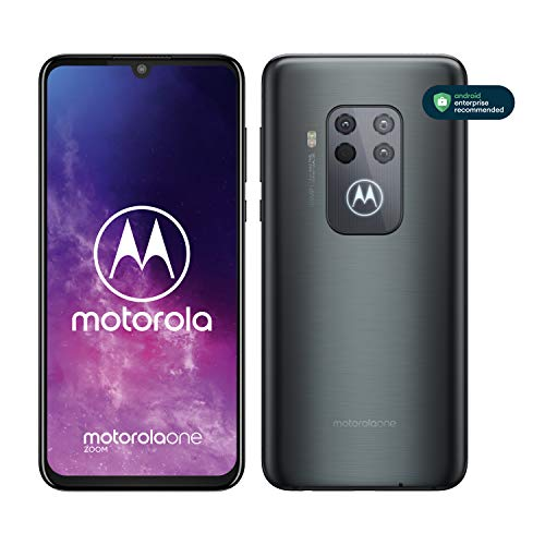 Motorola One Zoom, Smartphone, Quad Camera 48MP, 128GB, Alexa Hands-Free integrato, Batteria 4000 mAh TurboCharge, Display OLED MaxVision 6.4' FHD+, Dual Sim, Android 9 Pie - Grey