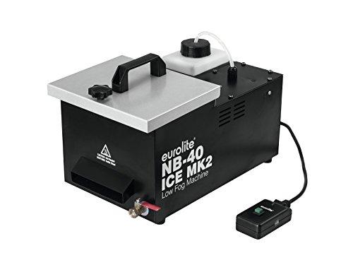 Eurolite NB-40 MK2 ICE Bodennebler   Kompakte Maschine (450 W), 1,2-Liter-Tank, Fernbedienung, Eiswürfelkühlung   Erzeugt große Mengen tief liegenden Bodennebels  