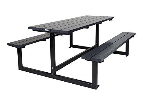 Picknicktisch Design Liverpool anthrazit 180 cm, Kiefernholz mit Stahlgestell, moderner Picknicktisch