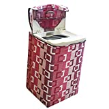 KANUSHI Industries Top Load Fully Automatic Washing Machine Cover (Maroon) (Suitable for 6 Kg, 6.5 kg, 7 kg, 7.5 kg)