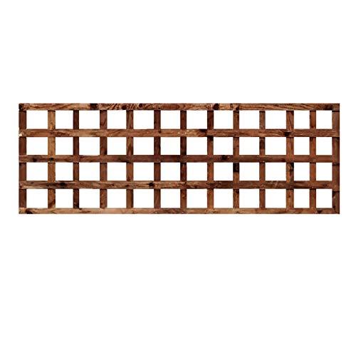 weatherwell ltd Square Garden Trellis Panels Pressure Treated Timber Garden Brown Wooden Trellis 6ft (6ft x 2ft)