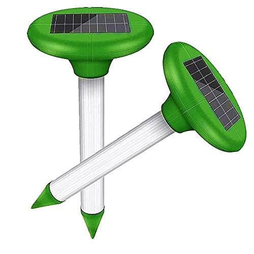 Repellente Solare per Talpe,IP65 Impermeabile Repellente ad Ultrasuoni Solare per Talpe,Mole Repellent...