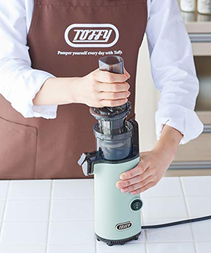 【Toffy/トフィー】ミニスロージューサーK-BD4(ペールアクア)小型コンパクトフルーツ野菜ビタミン健康習慣鮮度キープフレッシュジュースレトロK-BD4-PA