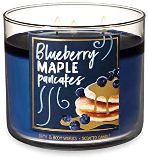 Bath and Body Works White Barn Blueberry Maple Pancakes 3 Wick Candle