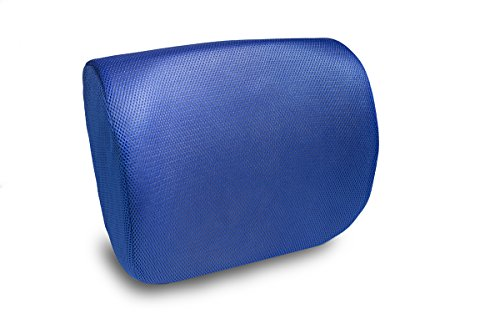 Orthopedic Memory Foam Lumbar Support Cushion – Back Pain Relief! Back Rest for Office Chair & Car Seat| Improve Posture Naturally| 2 Adjustable Straps for Sitting Comfort - (Blue)