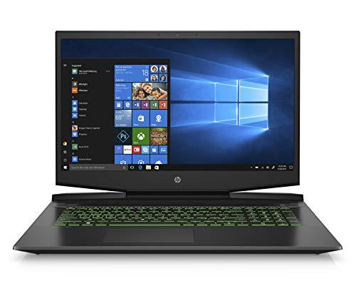 HP Pavilion 17-Inch Gaming Laptop, Intel Core i7-9750H, NVIDIA GeForce GTX 1660 Ti with Max-Q Design, 8GB RAM, 256GB Solid State Drive, Windows 10 (17-cd0030nr, Black)