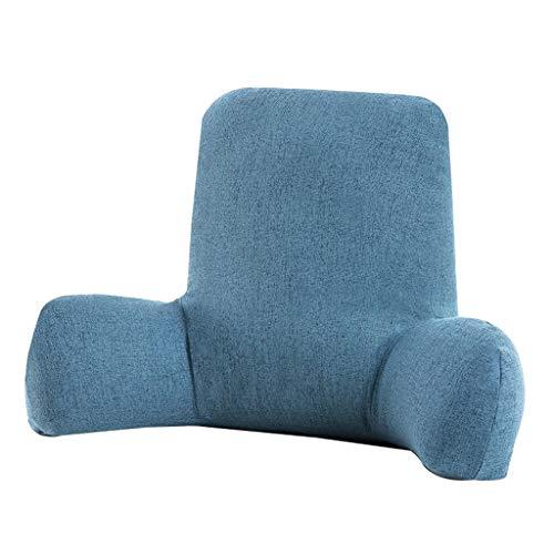 XXT Waist Pad Office Sedentary Memory Cotton Beautiful Hip Pad Waist Pad Office Waist Cushion (Color : Blue-E, Size : W53cm)