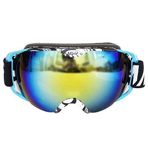 Pkfinrd Over Bril Ski Dubbele Anti-mist Grote Sferische Skibril Bergbeklimmen Spiegel Unisex (Kleur: Wit frame)