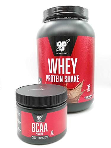 BSN Fine KIT with 2 Products: 1x BSN Whey Protein Powder Chocolate 980g and 1x BSN BCAA Powder 171g