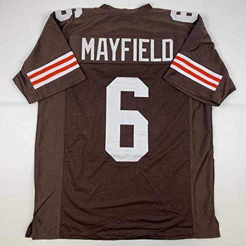 Unsigned Baker Mayfield Cleveland 2020 Custom Stitched Brown Football Jersey Size Men's XL New No Brands/Logos