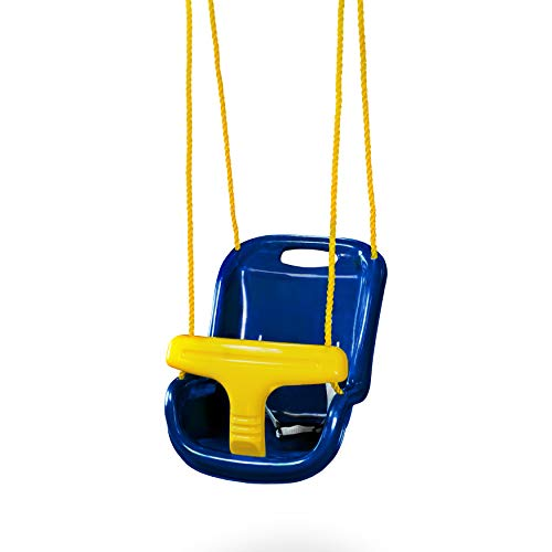 Swing-N-Slide WS 4001-B Plastic Infant Swing with Nylon Rope, Blue w/ Yellow